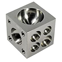 SE JT3401DS Steel Dapping Block (2.5-Inch X 2.5-Inch X 2.5-Inch)