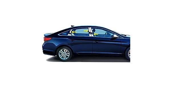 Custom for 2015-2019 Hyundai Sonata Chrome Stainless Steel Pillar Post Trim 4PCS Tyger Auto Made in USA