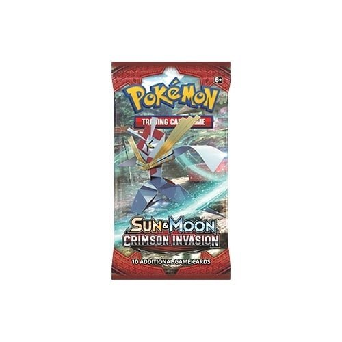 Pokemon TCG Sun & Moon Crimson Invasion Booster Sealed 10 Card PACK English