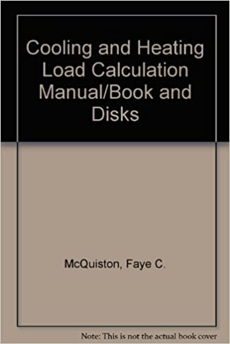 Cooling and Heating Load Calculation Manual: Faye C