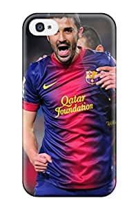 Anti-scratch And Shatterproof David Villa Football Barcelona Phone Case For Iphone 4/4s/ High Quality Tpu Case