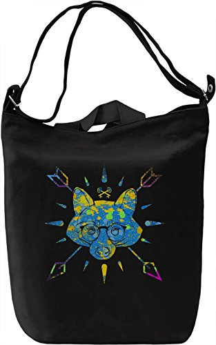 Raccoon Logo Borsa Giornaliera Canvas Canvas Day Bag| 100% Premium Cotton Canvas| DTG Printing|