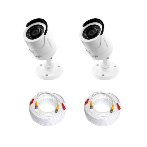 [Black Friday Sale] LaView 2 Pack 1000TVL (1.3MP) Superior Resolution Day and Night, Indoor/Outdoor Security Cameras - LV-KAC2E-CB