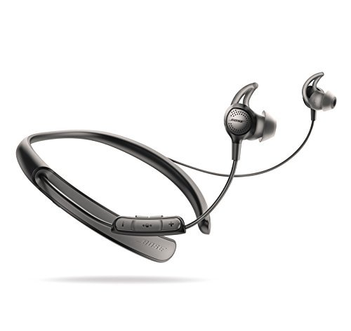 Bose Bluetooth Headphone Bundle - SoundSport Wireless Pulse Red & QuietControl 30 Black In-ear Headphones by Bose