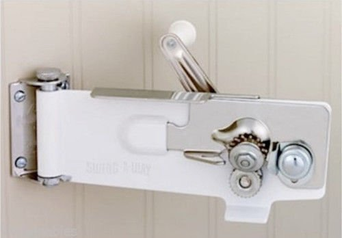 SWING-A-WAY WALL MOUNT CAN OPENER - MAGNETIC LIFTER - SWING AWAY - NEW - WHITE (Wall Mount Can Opener Manual)