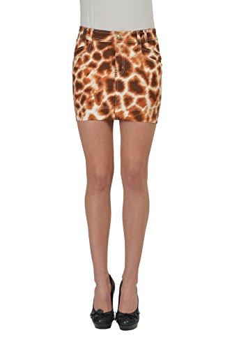 Just Cavalli Multi-Color Animal Printed Women's Denim Mini Skirt US XS IT 26