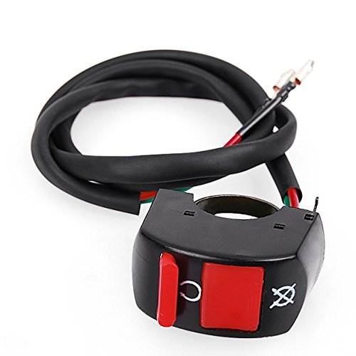 StaiBC Black Red Kill ON-OFF Switch For ATV Motorcycle Scooter Dirt Bike w/7/8'' 22mm Handle Bar