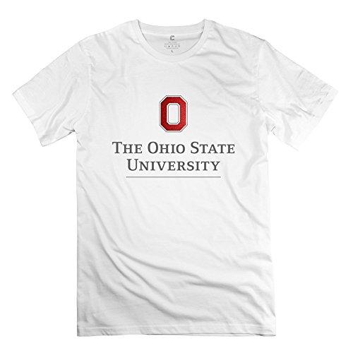 Men's Ohio State University Logo O-neck Tees Size XS White