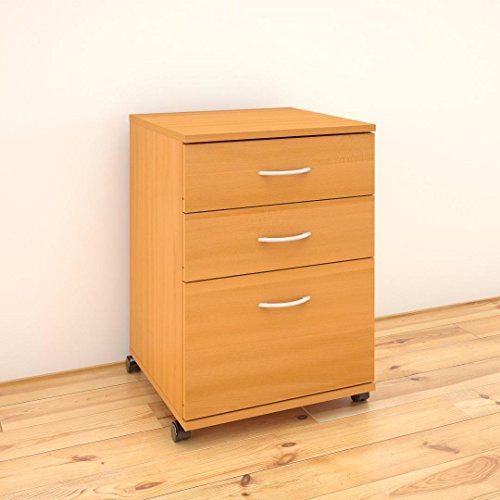 Essentials 3-Drawer Mobile Filing Cabinet 41092 from Nexera, American ()