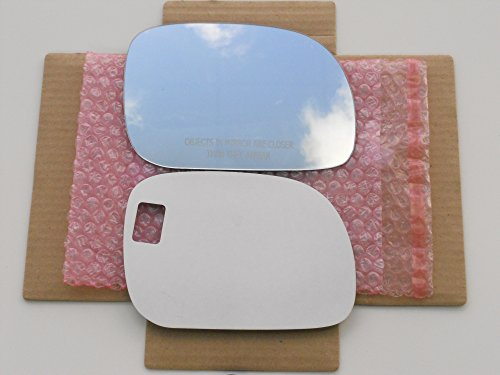 New Replacement Mirror Glass with FULL SIZE ADHESIVE for 1996-2007 Dodge CARAVAN Chrysler TOWN & COUNTRY Plymouth VOYAGER Passenger Side View Right RH