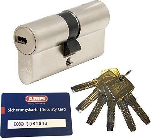 mit Sicherungskarte mit 6 Schl/üssel 35//35mm ABUS EC660 Profil-Doppelzylinder L/änge a//b c=70mm