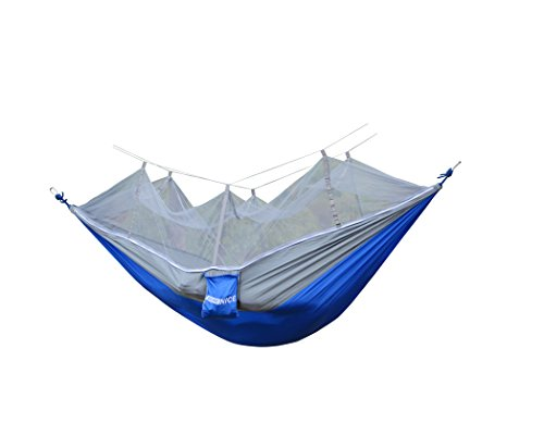 - WoneNice Hammock with Mosquito Net, Portable Lightweight Nylon Parachute Multifunctional Hammock with Net and Tree Straps for Camping, Backpacking, Travel, Beach, Yard.