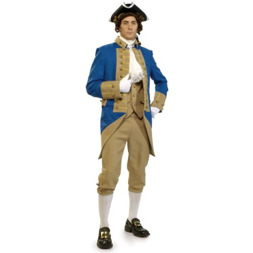 Men's mens Grand Heritage George Washington Costume,Multi,Standard (Founding Fathers Costumes)