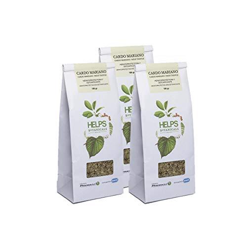HELPS INFUSIONES - Infusion Depurativa De Cardo Mariano Te Detox Natural Regenerador Del Higado Bolsa A Granel De 100 Gramos Pack de 3