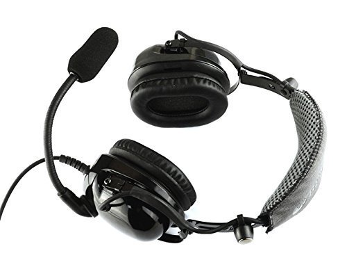 SYSTECH DJ3000 Headband Aviation Gaming Headsets 3.5mm Port Stereo Headphone Earphone for PS4 IPHONE IPAD SAMSUNG HUAWEI PC Game-BLACK