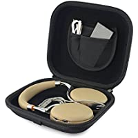 Headphones Case for Parrot Zik 1, Parrot Zik 2, Parrot Zik 3, Parrot Zik Wireless / Headphone Hard Shell Carrying Case / Headset Protective Travel Bag (Dark Gray)