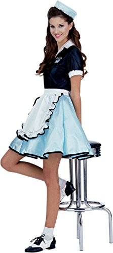 Car Hop Girl Costume - Standard - Dress Size 6-12 -