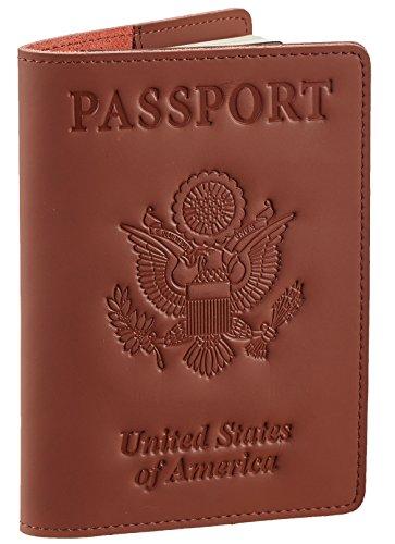 SimpacX Genuine Leather Passport Cover Holder RFID Blocking for Men & Women Travel Wallet (vintage brown)