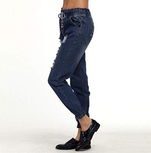 Xl Mezclilla S M Mujer Para 3xl Tiefes Alta Cintura De Cher Mujeres Agujeros Ropa L 5xl 4xl Blau Rasgados 2xl Pantalones 5P1w64q4