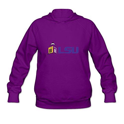 LSU Logo Hot Topic 100% Cotton Purple Long Sleeve Sweatshirt For Adult Size XL (Lsu Zombie)