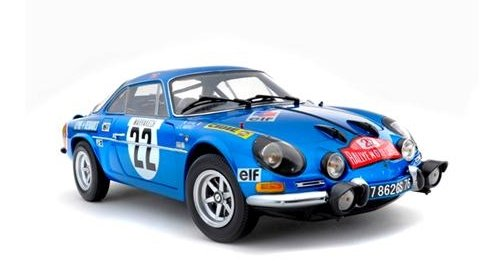 1/18 ALPINE RENAULT A110 1600S No22 1971 MONTE CARLO RALLY 3rd Place by Kyosho 1