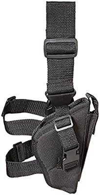 Bulldog Cases Right Hand Black Tactical Leg Holster (Fits Most Standard Auto's with 2 - 4-Inch Barrels, Glock 17,19)