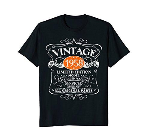 Gag Birthday Gifts - Vintage 60th Birthday Funny Tshirt 1958 All Original Parts