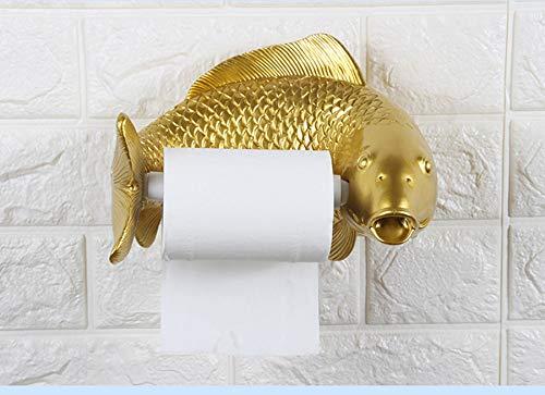 MOCHENG Toilettenpapierhalter Kreativ Toilettenpapierhalter frei stanzen Wandmontage Wandmontage Wandmontage Badezimmer Toilettenpapierhalter Gold B07HVNN9S1 Toilettenpapieraufbewahrung 140735