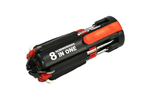 8-in-1 Multi Portable Screwdriver with LED Torch - Bright LED Flashlight/Portable General Screwdriver/Home Repair Tool Kit/Car Tool Kit/Hand Tools