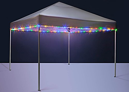 Brightz CanopyBrightz LED Tailgate Canopy and Patio Umbrella Accessory Lighting Kit (Lights Only), Multicolor