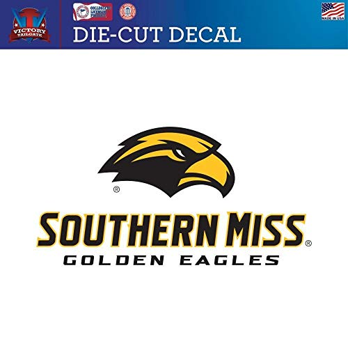 Victory Tailgate Southern Mississippi Golden Eagles USM Die-Cut Vinyl Decal Logo 1 (Approx 6x6)