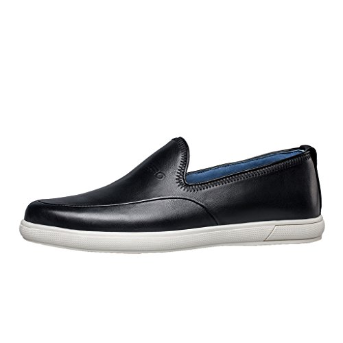 ZRO Mens leisure slip on leather shoes flat comfortable Black cBLsfcOh
