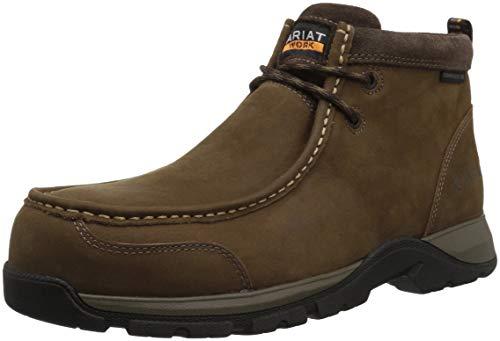- Ariat Work Men's Edge LTE MOC Composite Toe Western Boot, Dark Brown-1, 12 D US