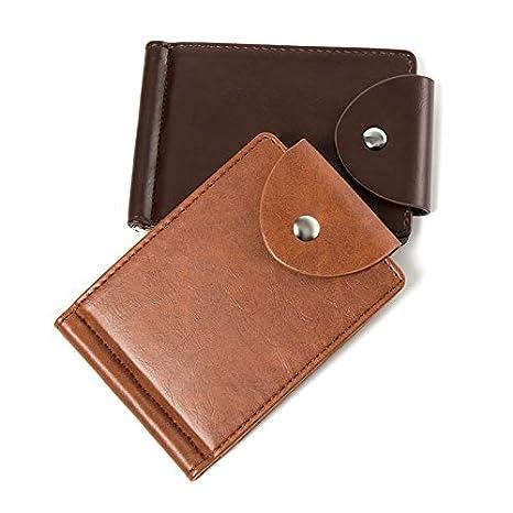 Amazon.com: Monedero de piel para hombre, estilo vintage ...