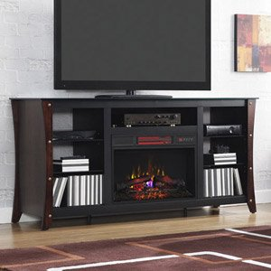 Amazon.com: Marlin Electric Fireplace Media Cabinet in Cherry - 26MM9689-NC72: Home & Kitchen