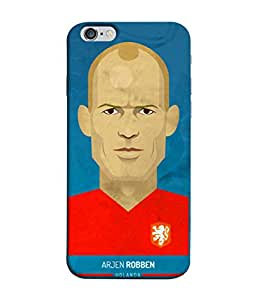 ColorKing Football Robben Holand 01 Blue shell case Cover for Apple iphone 6 Plus / 6s Plus