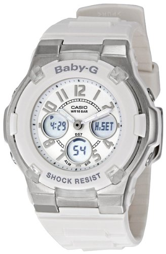 Casio Women's BGA110-7B Baby-G Shock-Resistant White Sport Watch - White G Shock Watches For Women