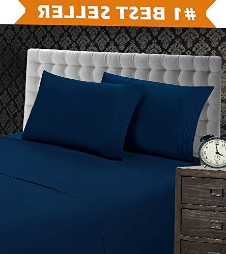 - Kaputar 1500 Count 4 Piece Deep Pocket Bed Sheet Set | Model CMFRTRSTS - 9041 | Split King