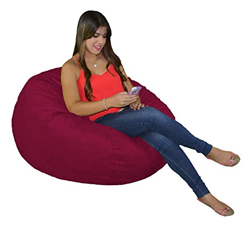 Bean Bag Chair 3 Foot Small Cozy Foam Filled Beanbag Protective Liner and Removable Microfiber Cover from Cozy Sack