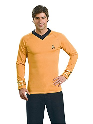 Star Trek Classic Deluxe Gold Shirt, Adult Large -