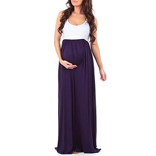 Sin Verano Mangas Vestidos de Maternidad youth Fotografia Largos Vestidos Fiesta K de Embarazada Mujer Cómodo Premama Casual Vestidos Vestidos Morado Suelto PqvxB1Ic