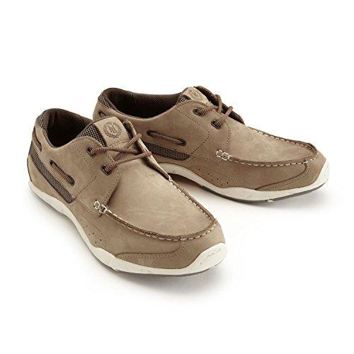 Henri Lloyd Men's Leather Valencia Leather Deck Shoes 40 Brown