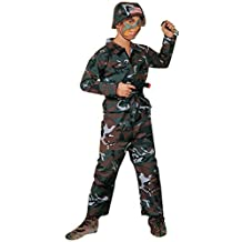 Forum Novelties Forest Camo Soldier Costume, Child Small