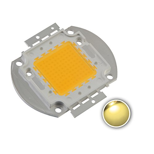 Chanzon High Power Led Chip 100W Warm White (3000K-3500K / Input 3000mA / DC 30-34V / 100 Watt) Super Bright Intensity SMD COB Light Emitter Components Diode 100 W Bulb Lamp Beads DIY Lighting