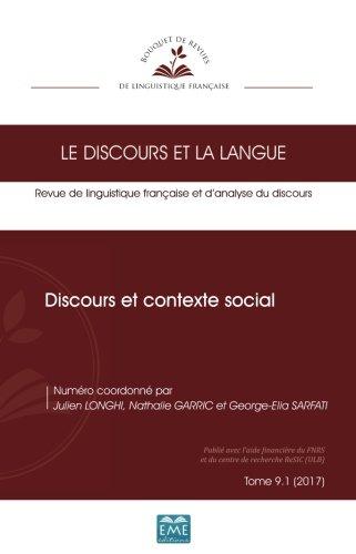 Discours et contexte social (French Edition)