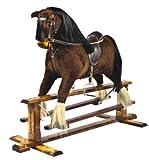 'Shire Horse in BAY colour' Handmade Rocking Horse MARS IV Cheval à bascule MJmark