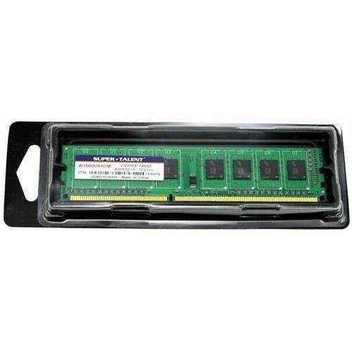 Super Talent Memory Module - SUPERTALENT Super Talent w1600ua4gm 4GB(512MBx8) DDR3 1600MHz 240pin Memory Module (SUPERTALENTW1600UA4GM )