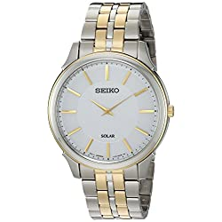 Seiko Men's Quartz Stainless Steel Casual Watch, Color:Two Tone (Model: SUP864)