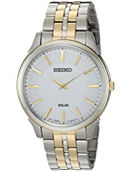 Seiko Mens Quartz Stainless Steel Casual Watch, Color:Two Tone (Model: SUP864)