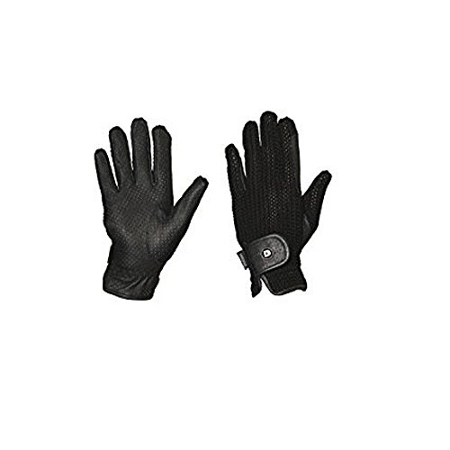 - Dublin COOL CROCHET RIDING GLOVES BLACK ADULTS SMALL